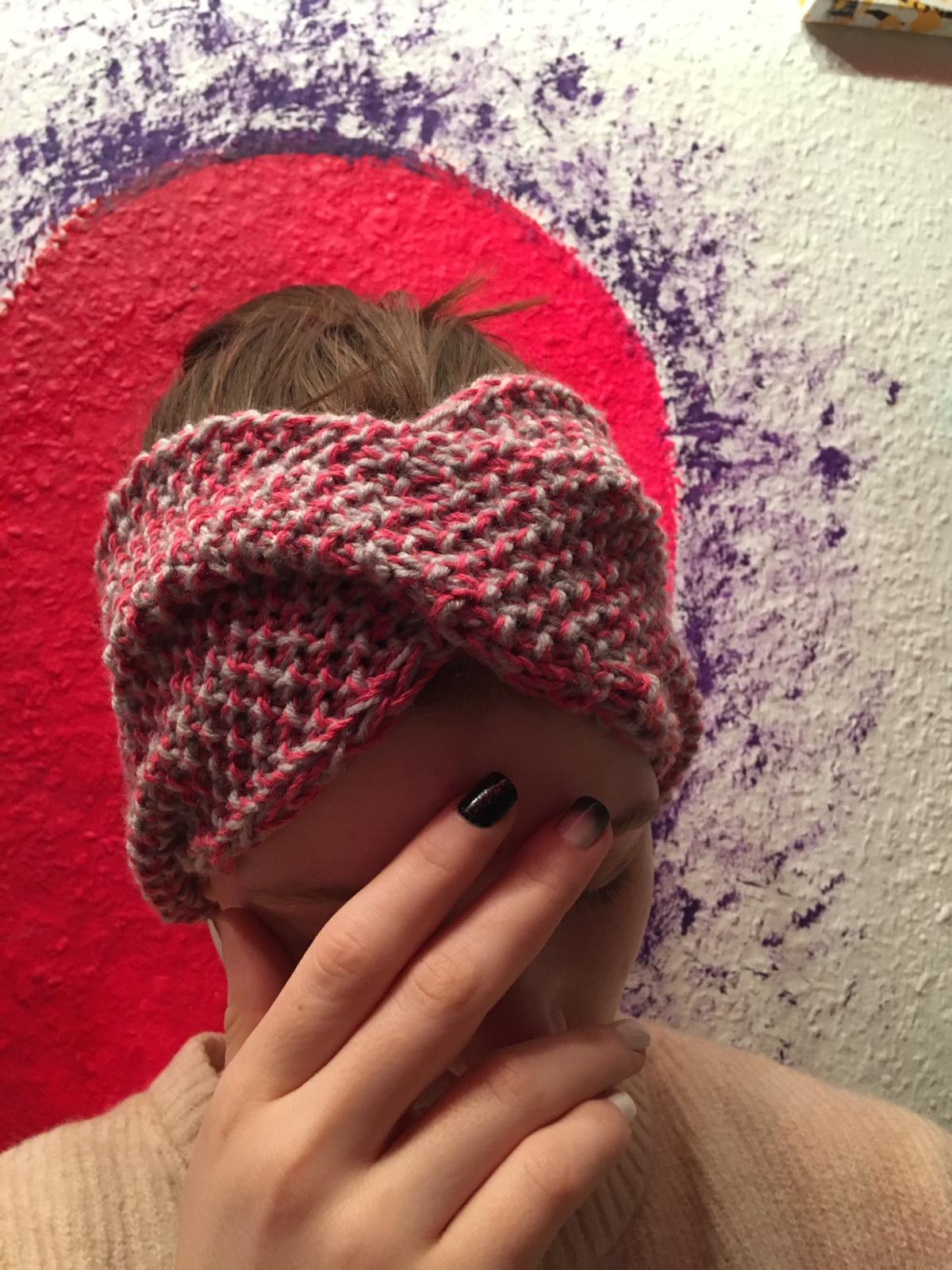 Stirnband selbstgestrickt